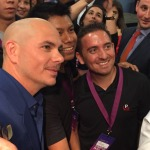 Pitbull with Fans