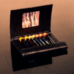 Instead of matchsticks, these MBI matchlights come with tiny flashlights.